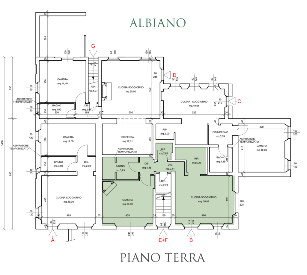 Albiano Planimetria